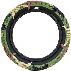 "CULT VANS TYRE GREEN CAMO 14"" 16"" 18"" - PAIR"
