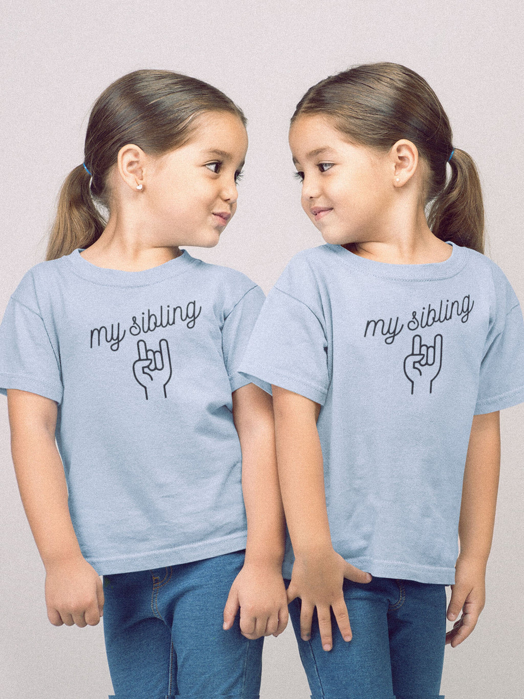 Girls Wearing My Sibling Rocks T-Shirts