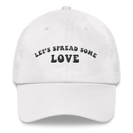 Unisex White Let's Spread Some Love Embroidered Hat