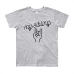 Youth My Sibling Rocks Heather Grey T-Shirt