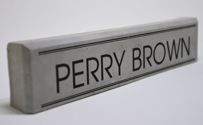 Concrete Desk Name Plate
