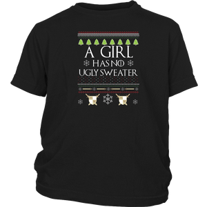 A Girl Has No Ugly Sweater Long Sleeve Shirt Xmas Gift