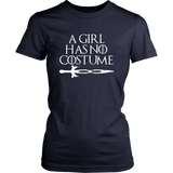 A Girl Has No Costume No Name Funny Halloween T-Shirt Quotes Hoodie