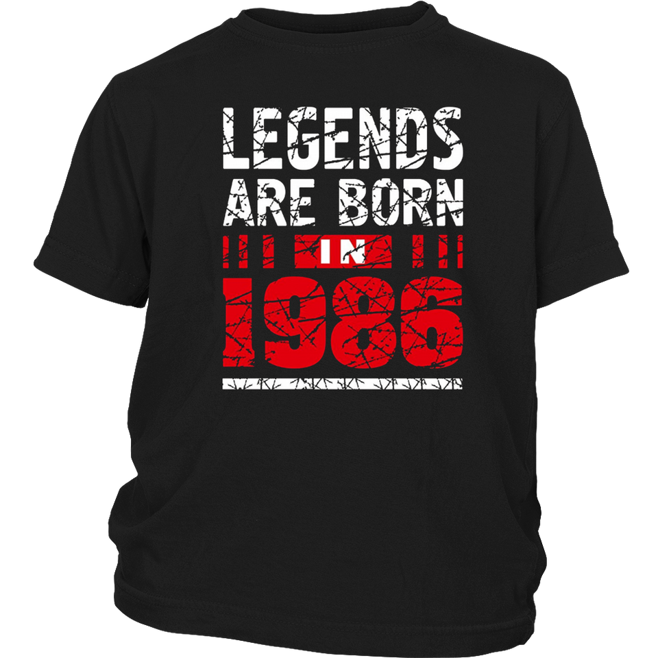 31th Year Old Man Shirt Gift Legends Are born in 1986 Tee