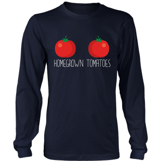 Homegrown Tomatoes Funny Breasts Farming Gardening Shirt