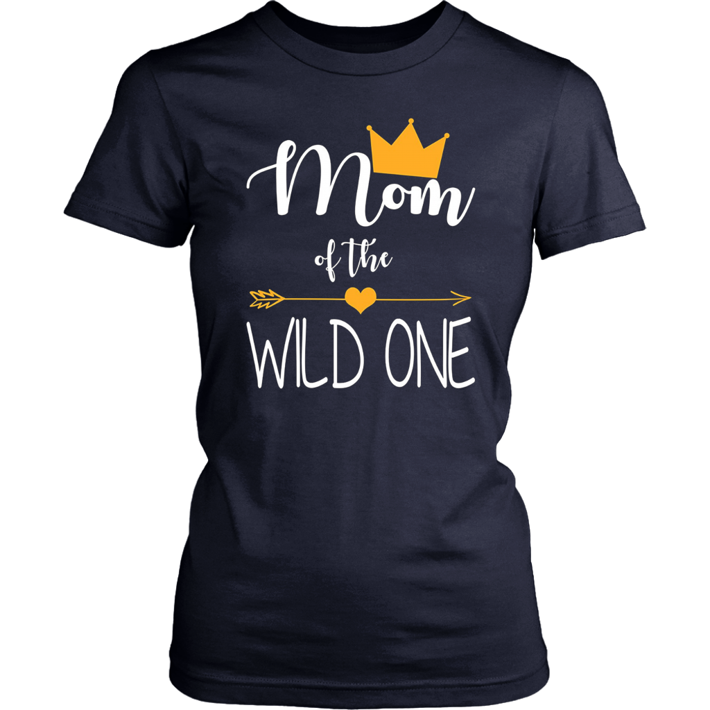 Mom of The Wild One Funny 1st Birthday Matching T-Shirt