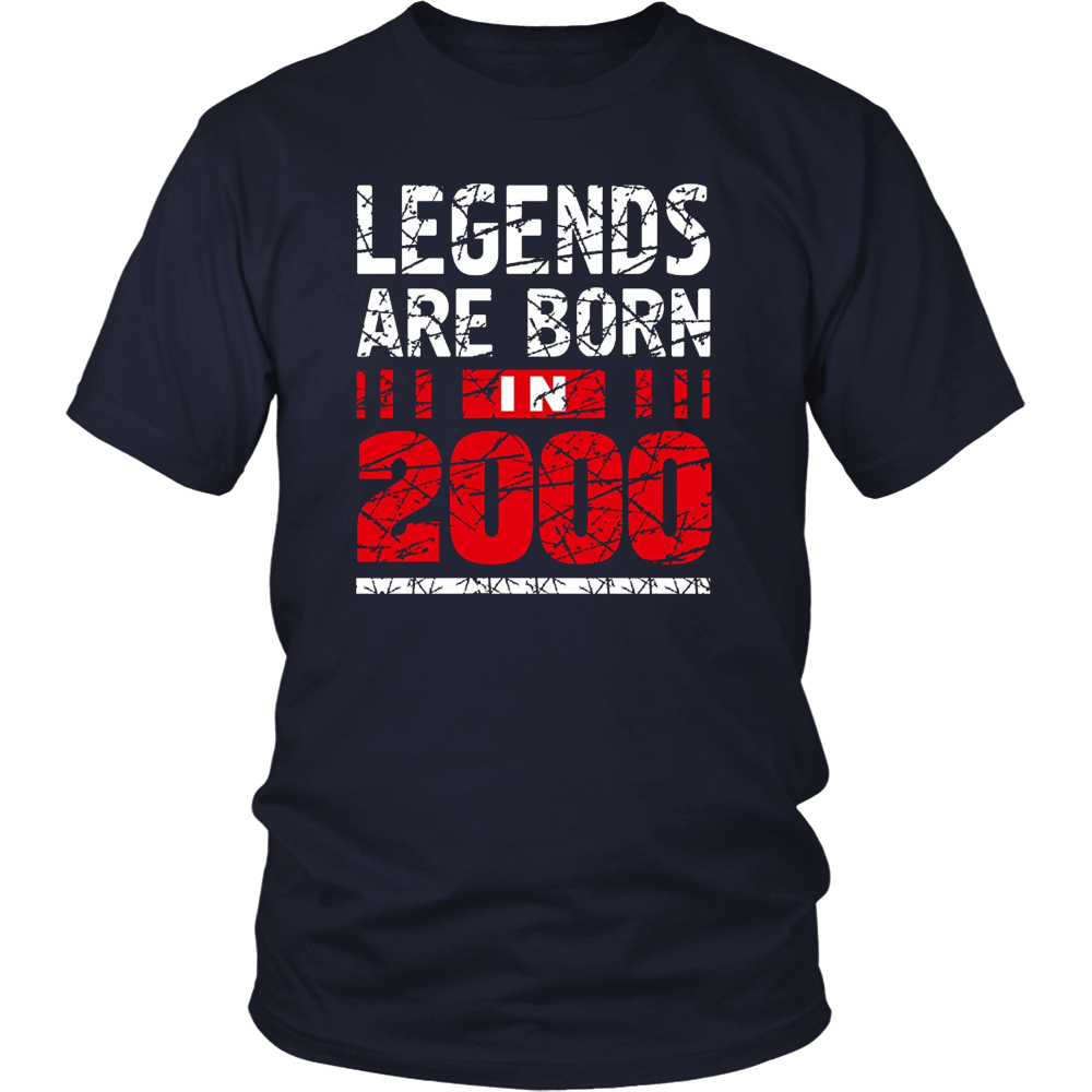 17th Year Old Boy Shirt Gift Legends Are born in 2000 Tee