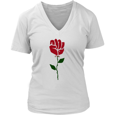 Women right - Rose Resist hands up t shirt