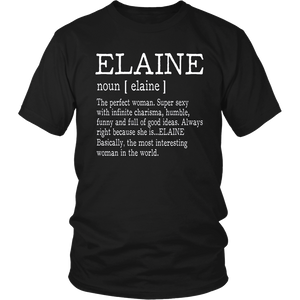Adult Definition - First Name Elaine - Ladies T-Shirt Funny