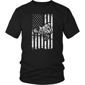 American Flag Dirt Bike Motocross Enduro Gift T-Shirt
