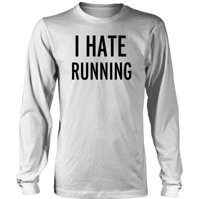 Hate Running T-Shirt Hoodie - Tank-Top