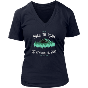 Born to Roam - Everywhere is Home Traveller hinking t-shirt