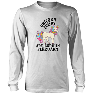 Unicorn Queens Are Born In February Birthday Gift T Shirt