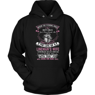 God Please Grant Me Grace to Accept The Life of Lineman's Wife Lineman Tshirt for Women