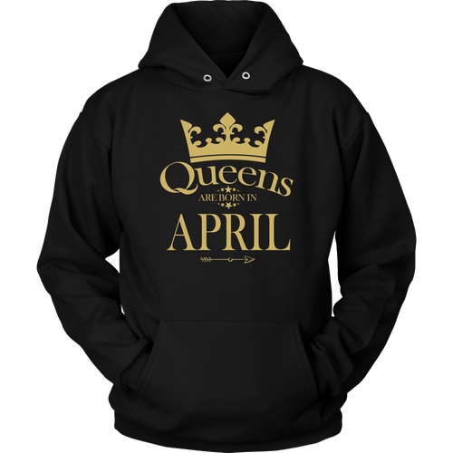 Queens Are Born In April GOLD GIFT T-Shirt