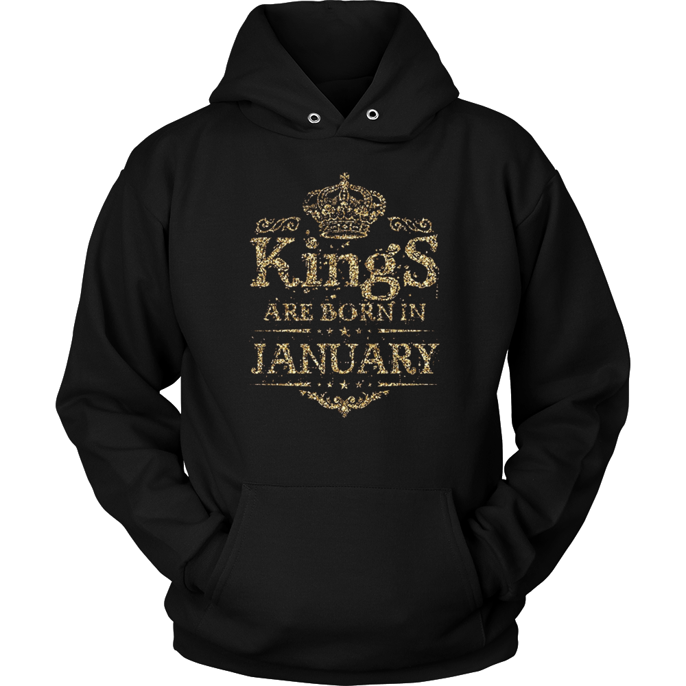 Birthday Boy - Kings are born in January Gold C1 T-Shirt Hoodie - Tank-Top