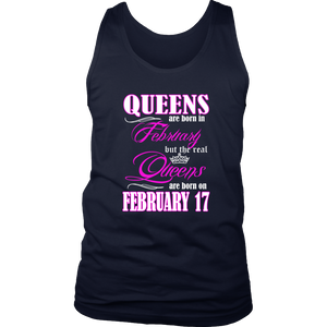 Birthday Queens Are Born On February 17 Funny Shirt