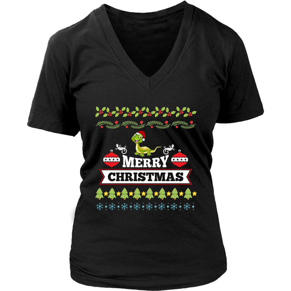 Bearded Dragon Christmas Ugly Sweater T-Shirt