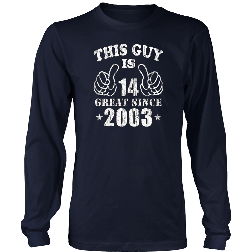 14th Birthday Gifts Shirt This Guy Is 14 Years Old T-Shirt Hoodie - Tank-Top