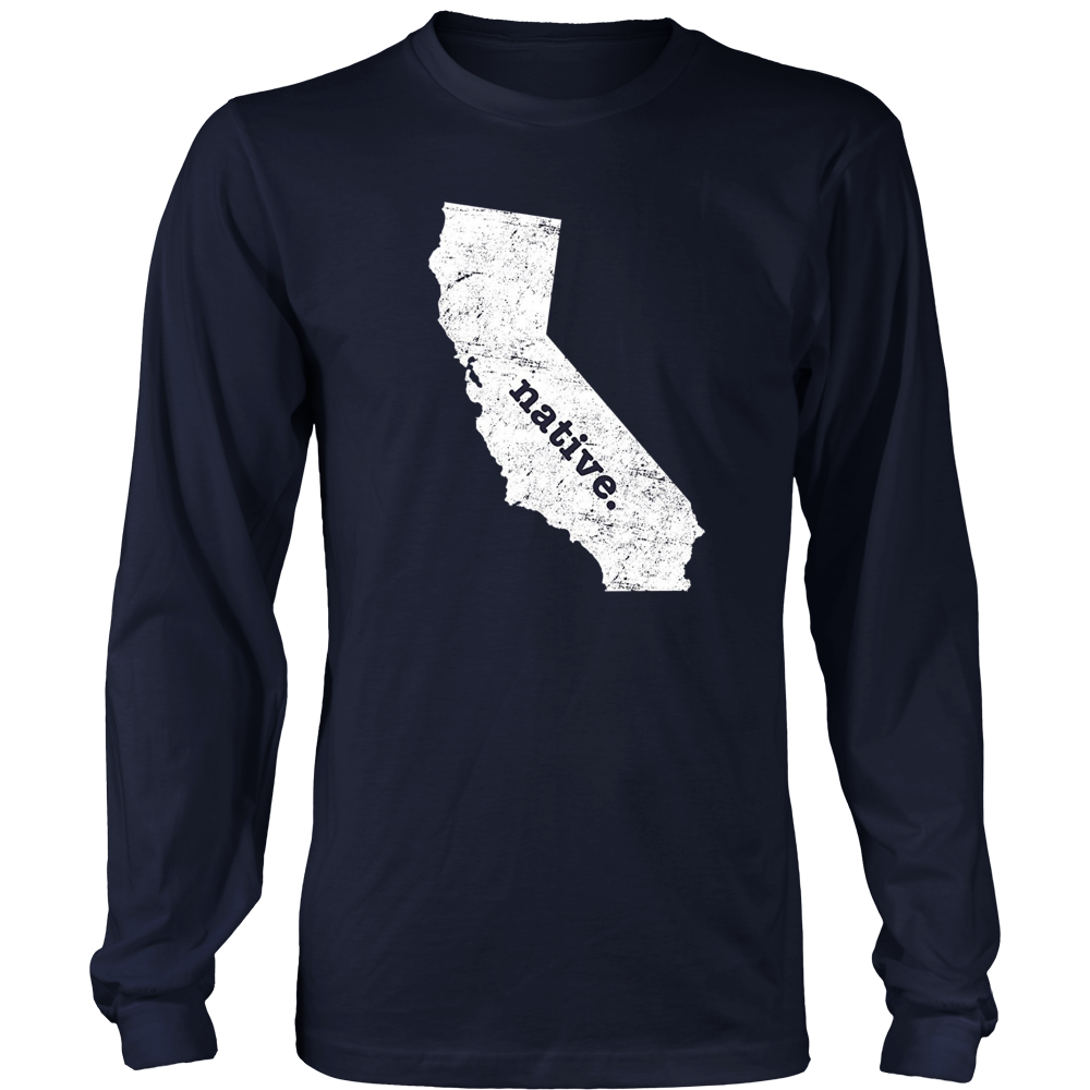 California State Native T Shirt Home Map