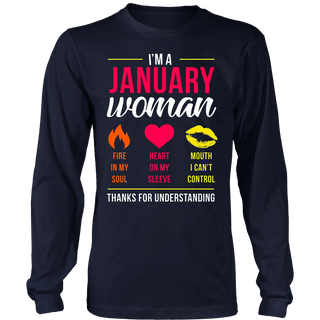 I'm A January Woman Shirt, Funny Cute Birthday Gift