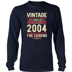 Vintage 2004 Perfectly Aged 13 Years Old 13rd Birthday Hoodie - Tank-Top