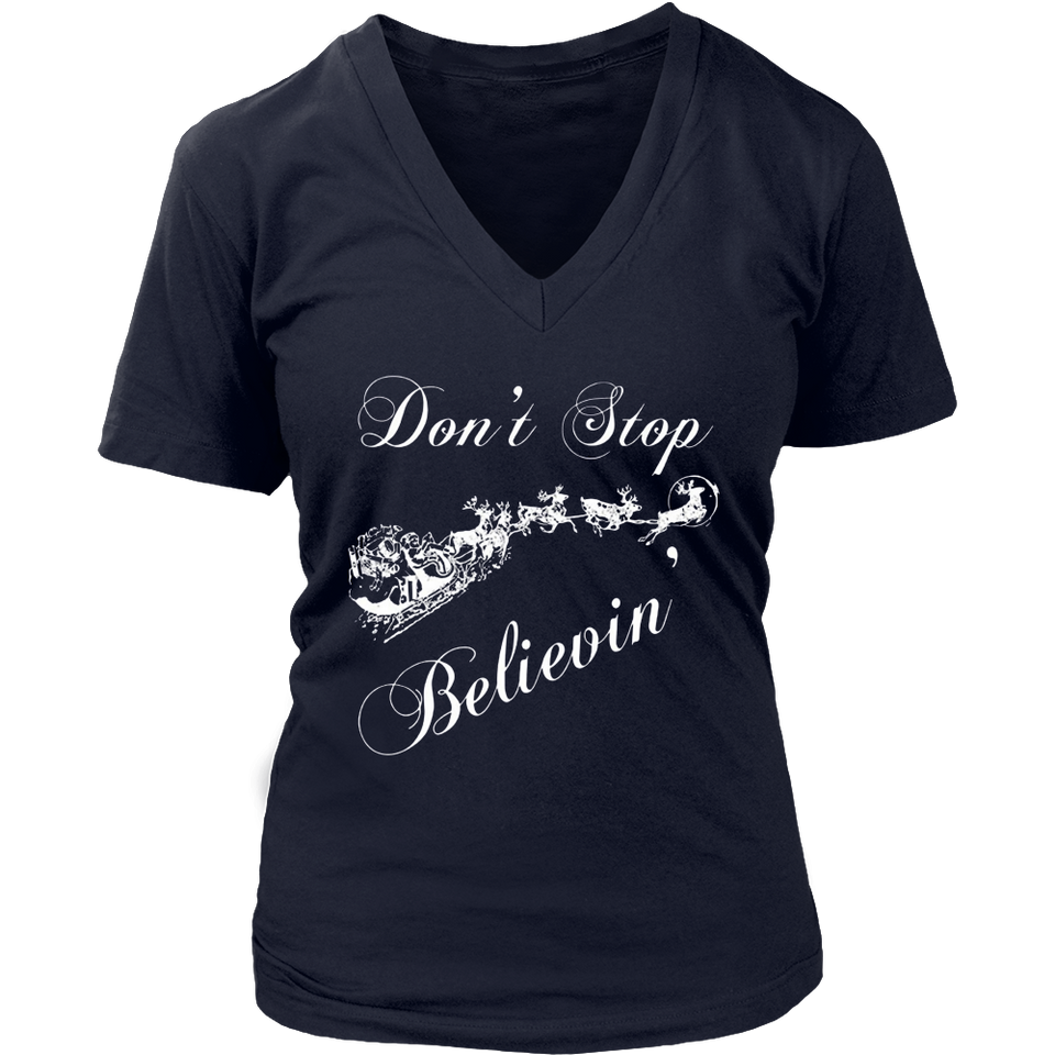 Believe Christmas Shirt - Don't Stop Believing Santa Shirt