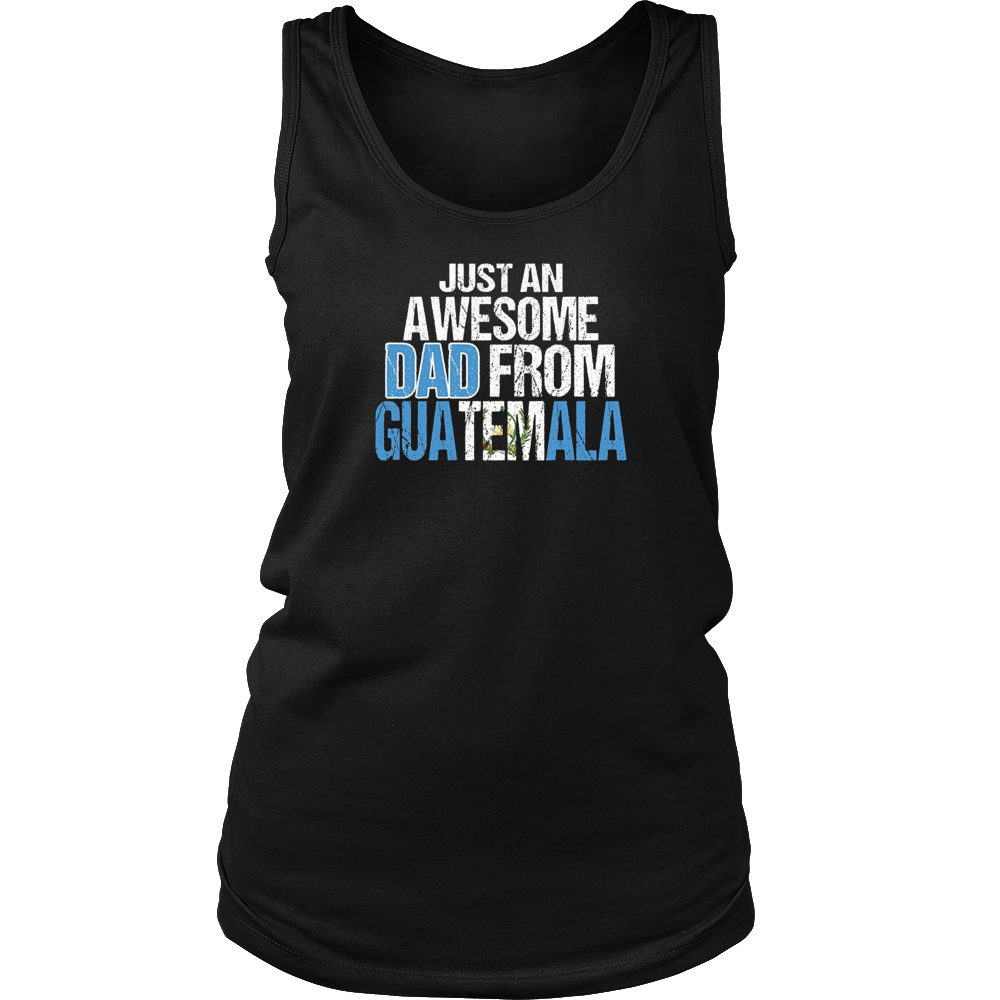 Awesome Dad Guatemala Flag T-Shirt Distessed