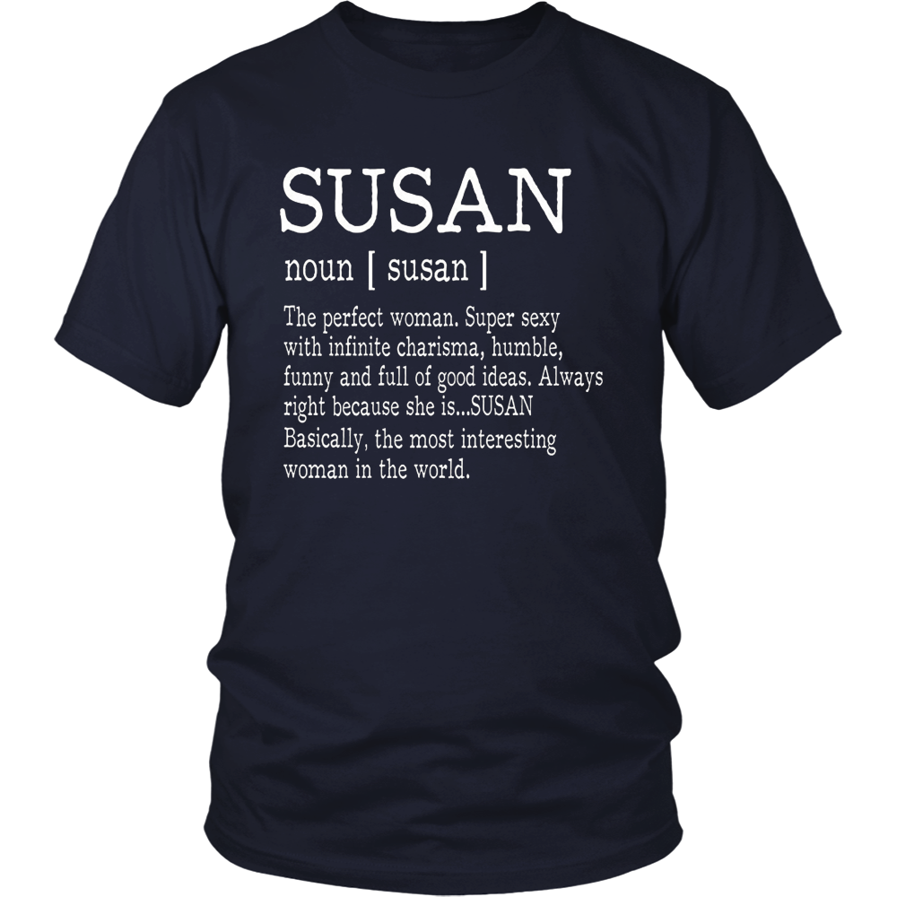 Adult Definition - First Name Susan - Ladies T-Shirt Funny