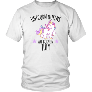 Unicorn Queens are born in July tshirt