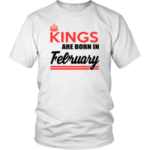 This King Was Born In February shirts Aquarius Pride