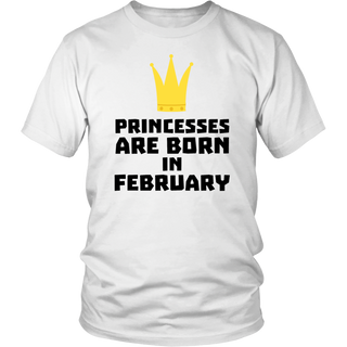 Princesses are born in February Gold T-Shirt