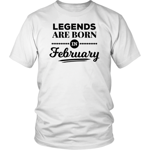 Classic Jiu-Jitsu Gift T-Shirt, Legends are Born in February