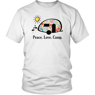 Camping Shirt, Peace. Love. Camp. T-shirt, Gifts for Campers T-Shirt