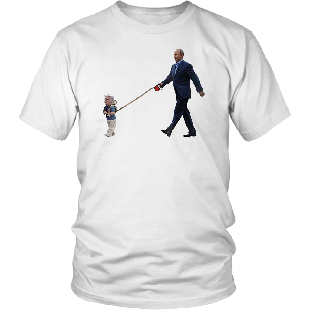 Putin with Little Trump on Leash | Resist | Impeach Trump