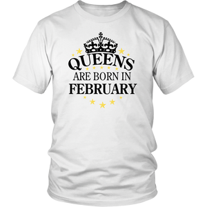 Lipstick kiss birthday Queens are born in February Shirt
