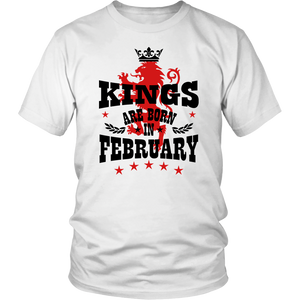 Kings Are Born In February Crown T-Shirt
