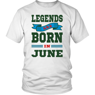 Legends Are Born In June T-Shirt, Grunge Birthday Gift