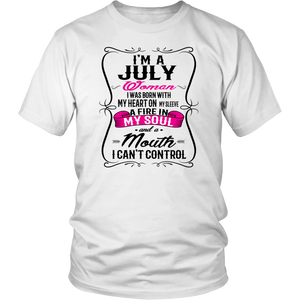 JULY WOMAN tshirt