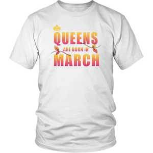 Queens Are Born In March shirt Hot Shirts