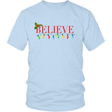 Believe Christmas Shirt-Holiday gifts Quotes Hoodie
