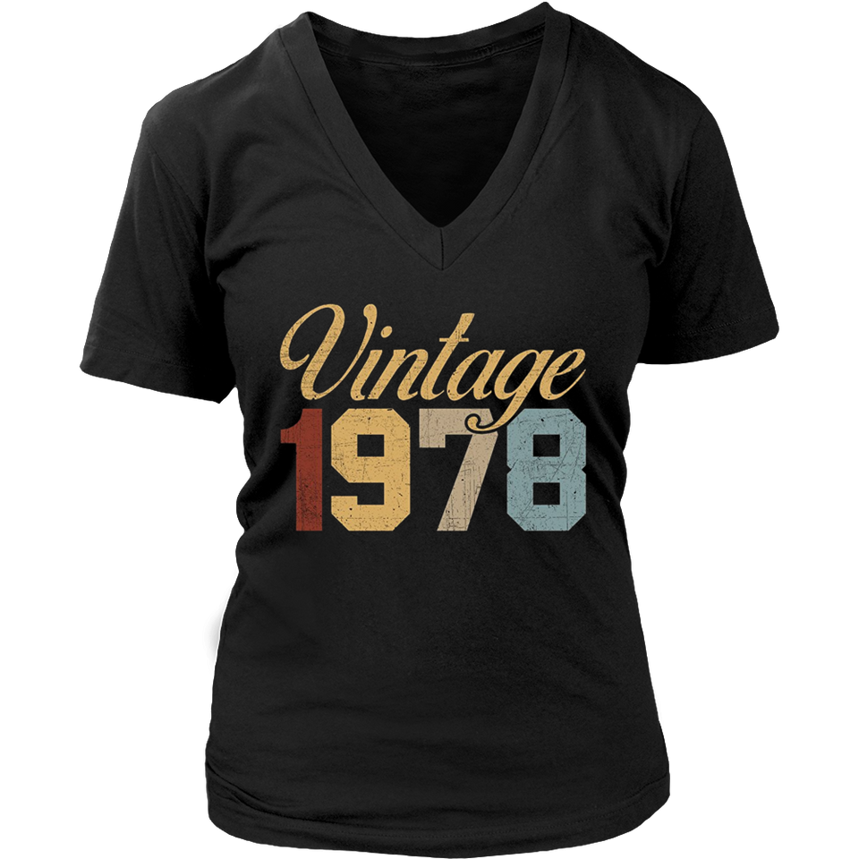 40th Birthday 1978 Vintage T-Shirt Forties Birthday Tee
