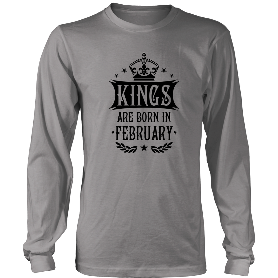14 Kings are born in February King Birthday Gift T Shirt
