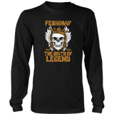 Born in February - The birth of legend Funny Shirt Quotes Hoodie