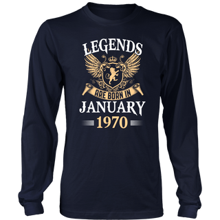 Legends Are Born In January 1970 T-Shirt