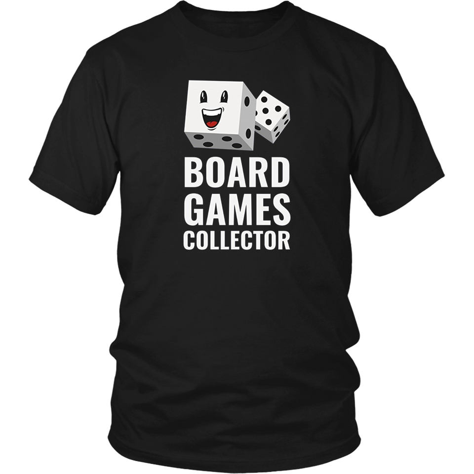 Board Games Collector T-shirt Dice Tabletop Game Lovers Gift