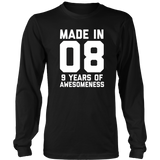 9th Birthday Shirt Gift Age 9 Year Old Boy Girl Tshirt Tee Quotes Hoodie