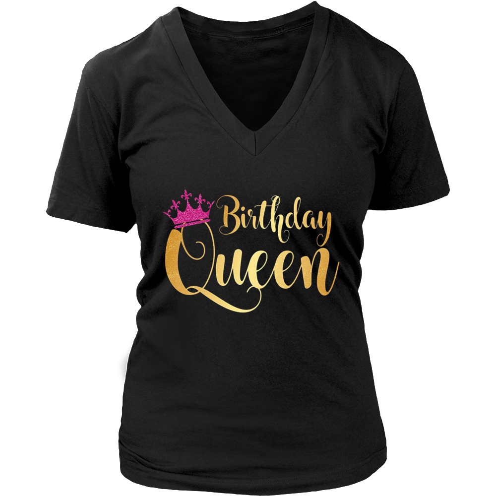 Birthday Queen Happy Birthday Party Funny T-Shirt Gift