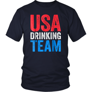 USA Drinking Team T-Shirt Drinking Fourth Of July Gift Shirt