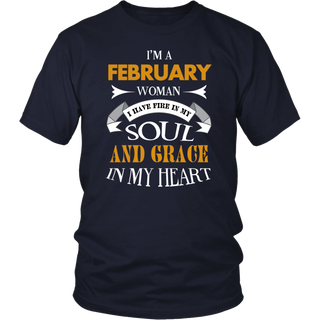 I'm A February Woman T-Shirt Funny Cute Gift B-Day Tee